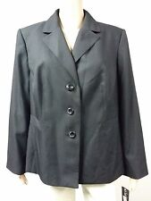 NEW - Le Suit - Size 18 - 3 Button Jacket - Pinstripe Black FAST to AUS / UK $89