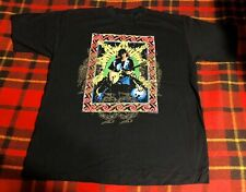 Vintage 90s 1994 Carlos Santana World Tour T-shirt Sz Xl New Sony Signatures