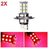 2pcs H4 5050 Red LED Turn Signal Lamp Fog Light Daytime Running DRL For Car SUV
