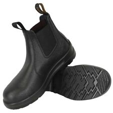 Blundstone Men's Basic Leather Elastic Side Steel Toe Safety Boots 370---Special