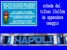 1 sciarpa napoli blu 1926 scarf bufanda calcio nn