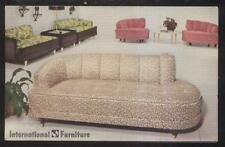 Postcard International Furniture 1950's/60's Modern Sofas Promo Ad