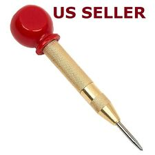 "5"" Spring Loaded Automatic Center Punch Hole Impact with Protective Sleeve"