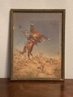 Vintage Photograph Of Woman On A Horse Western Equestrian Female Cowgirl
