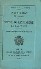 Ministère de la guerre - Instruction du 09 mai 1883 Service de l'Infanterie 1895