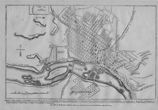 CITY OF RICHMOND VIRGINIA 1862 CIVIL WAR MAP HOLLYWOOD CEMETERY CAMP LEE COLLEGE