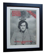 THE KINKS+RAY DAVIES+NME 1977+POSTER+FRAMED+RARE ORIGINAL+EXPRESS GLOBAL SHIP