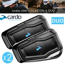 Cardo Scala Rider Freecom 4 duo Motorcycle Bluetooth Headset Intercom 2 Set Kit