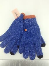 Women's JUICY COULTURE Blue COTTON-CASHMERE Gloves - 1 Size - $58 MSRP - 20%