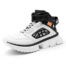 Mens High-top Platform Sneakers Basketball Shoes Athletic Trainers Running Shoes