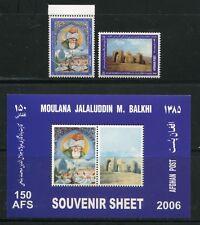 AFGHANISTAN 2006 Kulturerbe Joint Issue Türkei 2039-40 + Block 129 ** RAR