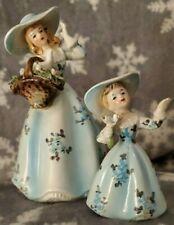 Lefton VINTAGE Porcelain Women and Girl Matched PAIR RARE Figurine Set WHOLESALE