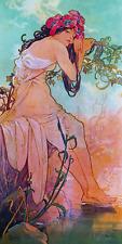 """Alphonse (Alfons) Mucha- Summer 1896- Art Nouveau -20""""x40"""" CANVAS ART"""
