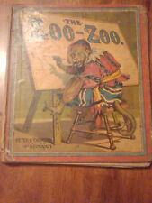"Rare 1888 color children book ""The Zoo-Zoo"" Must see!"