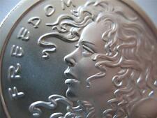 1-OZ..999 SILVER BULLET COIN FREEDOM GIRL ( LISTEN TO ALL FOLLOW NONE) + GOLD