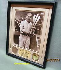 BABE RUTH, NY Yankees, GAME USED BAT Piece & Vintage Photo Display, Ltd/315/COA