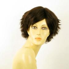 Perruque femme 100% cheveux naturel châtain ref SHINA 6