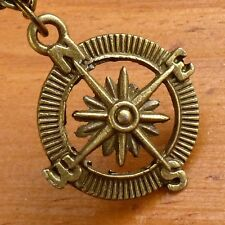 Steampunk Victorian Compass pocket watch nautical pirate pendant charm necklace