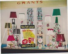 1950s VINTAGE AD SHEET #1568 - GRANTS TABLE LAMPS - 1950s