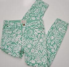 DVF Current/Elliott Skinny Jeans Size 29 Mint Floral Inseam 28