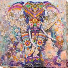 Beaded Embroidery Kit Miracle of India Elephant Beaded stitching Kit avec perle