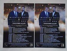 MICHAEL BALL & ALFIE BOE Live Together Again 2017 UK Tour Promo tour flyers x 2