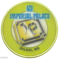 IMPERIAL PALACE BILOXI, MS ~ OBSOLETE SERIES 3 LIME GREEN ROULETTE CASINO CHIP