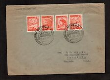 Austria #502, 501, 500; ski resort. On cover with pictorial CDS Vienna 1948