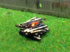 MINIATURE WORKING LED BONFIRE FOR N GAUGE 1:144 SCALE MODEL RAILWAYS AX021-N