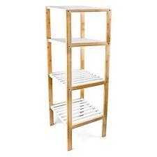 Bathroom Bamboo 4 Bookcases, Shelving & Storage Furniture