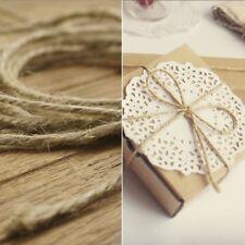 Fashion Brown Jute Hemp Rope Twine String Cord Shank Craft String Diy Making 33M