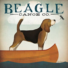 BEAGLE CANOE CO. COMPANY HOUND DOG RETRO ADVERTISING POSTER ART PRINT