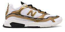 Новый баланс женские X-гонщик туфли белый с золотым