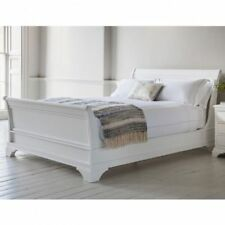 Ex John Lewis Gallery Direct Aurelia 4ft6High End Bedstead - White Double Bed