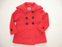 BNWT NEXT Girls Winter  Red Double Breasted Coat Jacket With Hood 3-4-5 Years