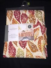 "Threshold Fall /Autumn LEAVES Round 70"" TABLECLOTH seats 4 to 6 NEW Thanksgiving"