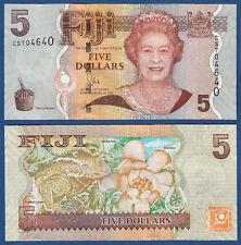 FIJI  5 Dollars (2012)  UNC  P.110 b
