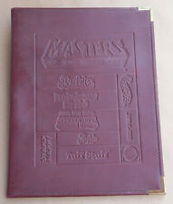 Vintage Mattel Employee Leather Binder Masters of the Universe Barbie Motu Hazel