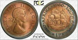 1960(m) SOUTH AFRICA SILVER FLORIN PCGS MS63 BU UNCIRCULATED HIGH GRADE