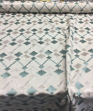 Bali Sequence Seagrass Teal and gray  Polyester Cotton Fabric by the yard
