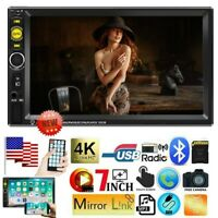 7 inch Double 2DIN Car Touch Screen MP5 Player Bluetooth Stereo Radio Head Unit