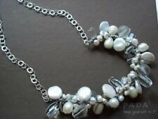 SILPADA N2189 Effervescence Necklace Sterling Pearls Quartz RETIRED New