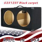 2X12 Guitar Speaker Empty Cabinet Black Carpet Strait front shape G2X12STBC