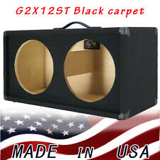 2X12 Guitar Speaker Empty Cabinet  Black Carpet Strait front shape G2X12STBC
