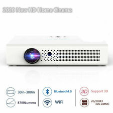 8700 Lumens 4K HD DLP Home Theater Projector 1080P Wifi 3D Smart Cinema HDMI USB