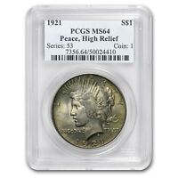 1921 Peace Dollar MS-64 PCGS (Toned) - SKU#23312