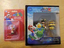 SUPER MARIO GALAXY 2 Mini Figurine Collection and a Toadstool mini figure.