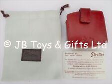 **GENUINE** Stratton Red Small Italian Leather Make-Up Mirror Snuff Box Case