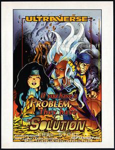 ULTRAVERSE - THE SOLUTION__Original 1993 print AD / comic promo announcement