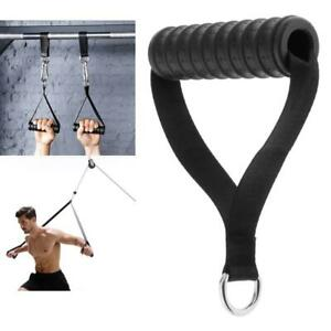 Fitness Cable Machine Attachment Stirrup Gym Handles Grip for LAT Cable Machine